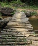 Ponte de suspensão de madeira Imagens de Stock Royalty Free