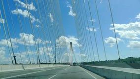 Ponte de suspensão de Mann do porto fotografia de stock