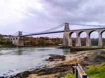 Ponte de suspensão de Menai Foto de Stock Royalty Free