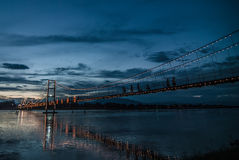 Ponte de suspensão de Rattanakosin Foto de Stock Royalty Free