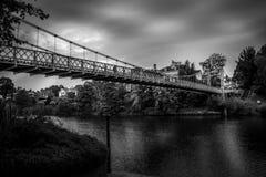 A ponte de suspensão do parque do Queens Imagem de Stock