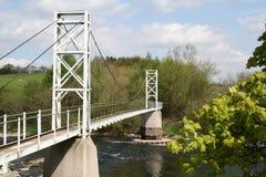 Ponte de suspensão do pedestre. Fotografia de Stock Royalty Free
