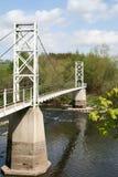 Ponte de suspensão do pedestre de Dinkley. fotos de stock royalty free