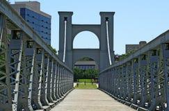 Ponte de suspensão em Waco imagens de stock