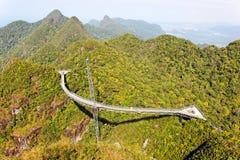 Ponte de suspensão, esteira Cincang de Gunung, Langkawi Fotos de Stock Royalty Free