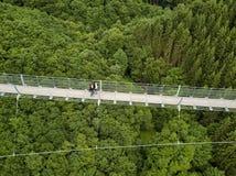 Ponte de suspensão de Geierlay, Moersdorf, Alemanha Fotos de Stock Royalty Free