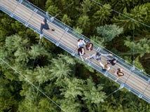 Ponte de suspensão de Geierlay, Moersdorf, Alemanha Foto de Stock