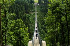 Ponte de suspensão de Geierlay, Moersdorf, Alemanha Fotografia de Stock Royalty Free