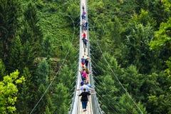 Ponte de suspensão de Geierlay, Moersdorf, Alemanha Fotografia de Stock