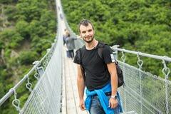 Ponte de suspensão de Geierlay, Moersdorf, Alemanha Foto de Stock Royalty Free