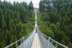 Ponte de suspensão de Geierlay, Moersdorf, Alemanha Imagens de Stock Royalty Free