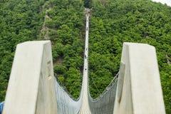 Ponte de suspensão de Geierlay, Moersdorf, Alemanha Fotos de Stock