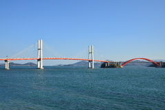 Ponte de suspensão grande em Samcheonpo Fotografia de Stock Royalty Free