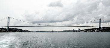 Ponte de suspensão, Istambul Fotografia de Stock