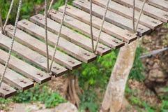 Ponte de suspensão, passagem ao aventuroso imagem de stock royalty free
