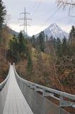 Ponte de suspensão Spissibach Leissigen Fotografia de Stock