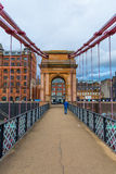 Ponte de suspensão sul da rua de Portland em Glasgow, Escócia Imagem de Stock