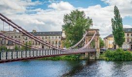 Ponte de suspensão sul da rua de Portland em Glasgow, Escócia Fotografia de Stock