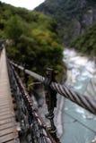Ponte de suspensão, Taroko Forest Park nacional, Taiwan Imagem de Stock