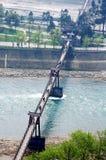 Ponte de suspensão velha Imagens de Stock Royalty Free
