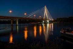 Ponte de Swietokrzyski em Varsóvia, Poland Fotos de Stock Royalty Free