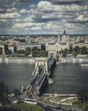 Ponte de Szechenyi em Budapest imagem de stock