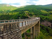 Ponte de Tara, Montenegro imagens de stock royalty free