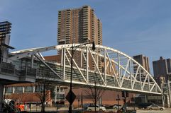 Ponte de Tribeca - New York City Fotos de Stock Royalty Free