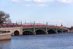 Ponte de Troitskiy Foto de Stock Royalty Free