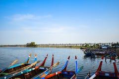 Ponte de U Bein, Myanmar Fotos de Stock Royalty Free
