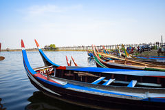 Ponte de U Bein, Myanmar Imagem de Stock Royalty Free