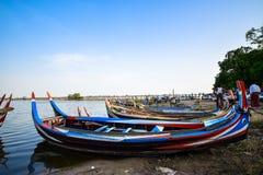 Ponte de U Bein, Myanmar Foto de Stock Royalty Free