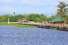 Ponte de U Bein, Myanmar Imagens de Stock Royalty Free