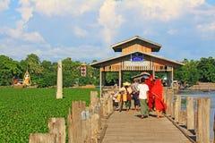 Ponte de U Bein, Myanmar Fotos de Stock