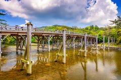 A ponte de Uji de Ise, Japão fotos de stock