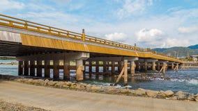 Ponte de Uji em Kyoto fotografia de stock