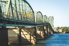 Ponte 5 de um estado a outro em Portland, Oregon Imagem de Stock Royalty Free