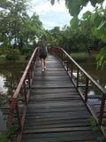 Ponte de um jardim de Tailândia imagem de stock