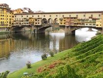 Ponte De Vecchio Przerzucający most Obrazy Royalty Free