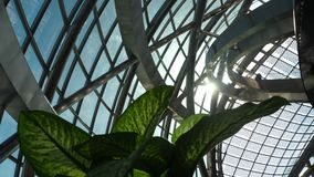 Ponte de vidro dentro da construção do globo filme