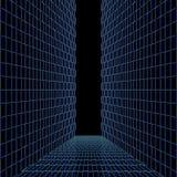 Ponte de vidro entre duas paredes Imagens de Stock