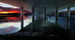 Ponte de Vuosaari, Helsínquia Fotos de Stock Royalty Free