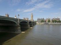 Ponte de Westminster e a Tamisa imagens de stock royalty free
