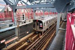 A ponte de Williamsburg é uma ponte de suspensão através do East River em New York City, EUA imagens de stock royalty free