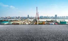 Ponte de Yangpu em Shanghai, China Foto de Stock Royalty Free