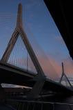 Ponte de Zakim, Boston fotos de stock royalty free
