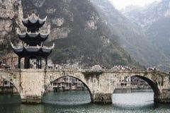 A ponte de Zhusheng Fotografia de Stock