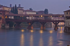 Ponte Degli Alpini in Bassano Del Grappa, Italy royalty free stock photo