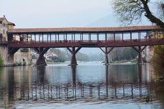 Ponte degli Alpini in Bassano del Grappa, Italy Royalty Free Stock Photography