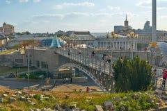 Ponte degli amanti Kiev Fotografia Stock